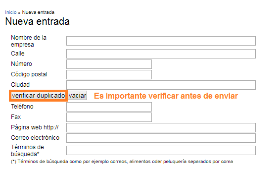Primer paso formulario comercios