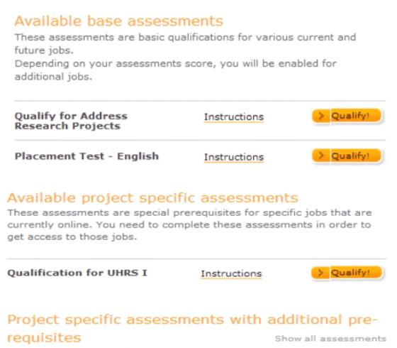 Test UHRS I y II