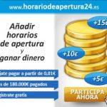 HorariodeApertura24: Registra horarios y gana dinero