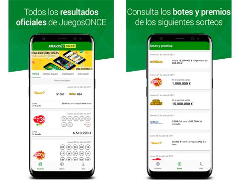 App móvil de JuegosOnce