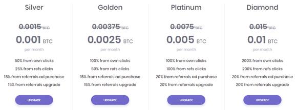 Cuentas y upgrades en ClixCoin