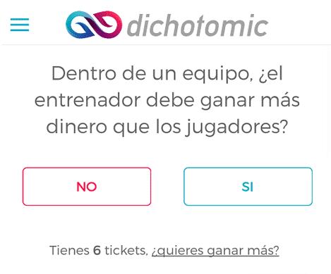 Una pregunta al día en Dichotomic