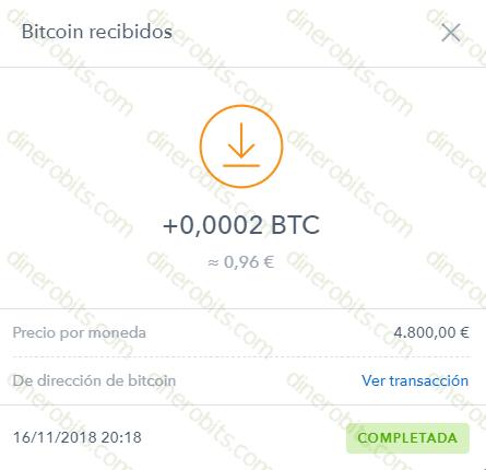 Primer pago recibido de Clix4BTC