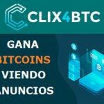 Clix4BTC: Gana Bitcoins gratis visualizando anuncios
