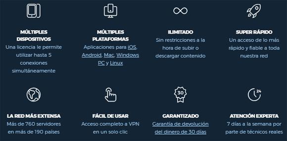 Ventajas del VPN HideMyAss