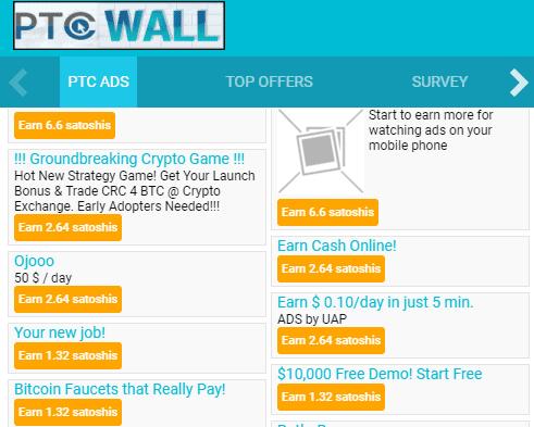Ofertas en el muro PTC Wall
