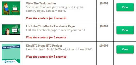Anuncios remunerados en Timebucks
