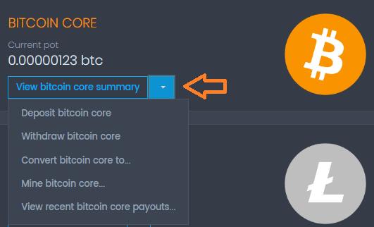 Opciones monederos Coinpot