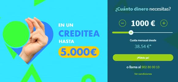 Solicitar préstamo Creditea