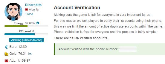 Verificar cuenta My Profit Land