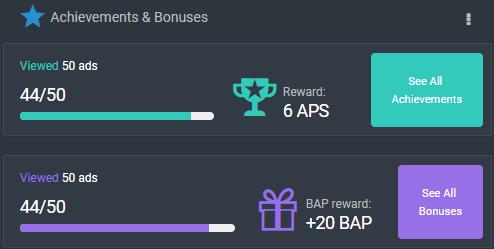 Logros APS y bonificaciones BAP