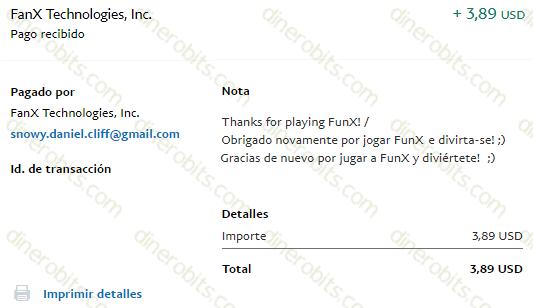 FunX paga PayPal