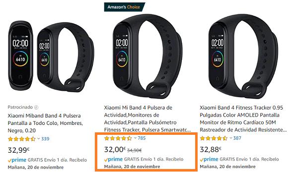 Comparar productos similares