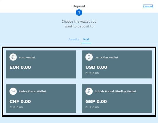 Depositar dinero en Bitpanda