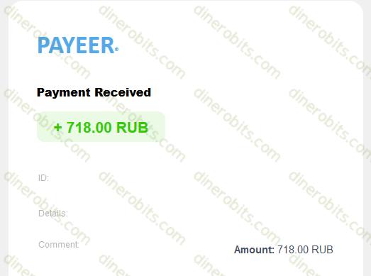 Pago recibido por Payeer