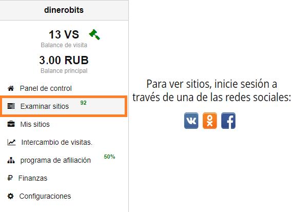 Examinar sitios en Visitbox
