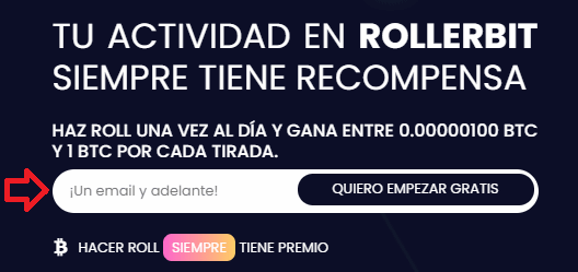 Registro en Rollerbit