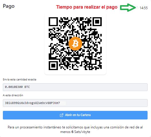 Compra con Bitcoin