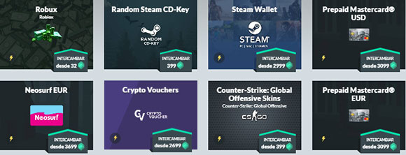 Premios en Gamehag