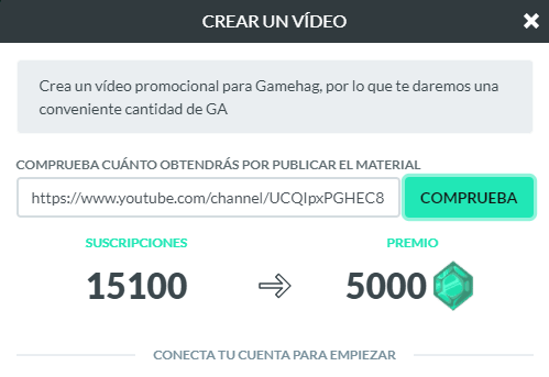 Subir vídeos a Gamehag