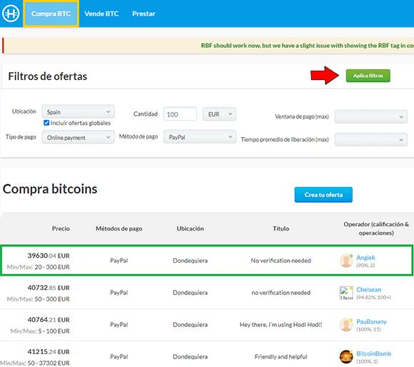 Comprar bitcoin en hodlhodl