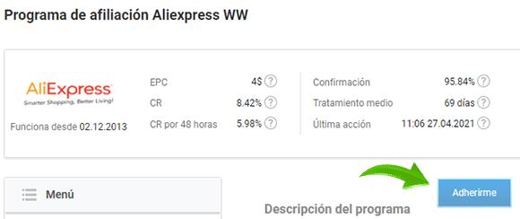 AliExpress en Admitad