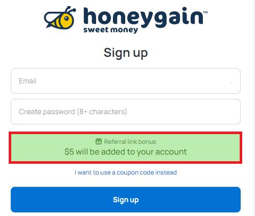 Abrir cuenta en Honeygain
