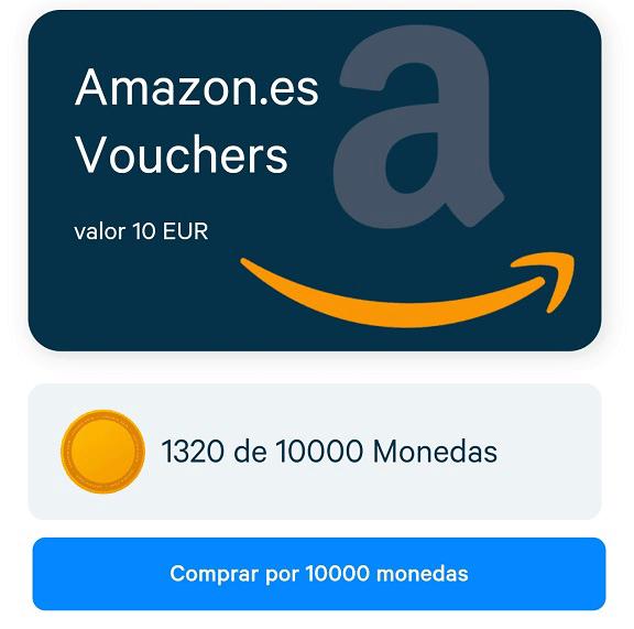 Tarjetas Amazon en Appinio